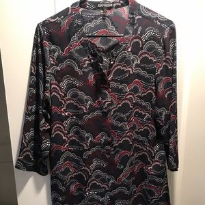 Patterned Express 3/4 sleeve blouse